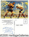 Miscellaneous, TWO VERY NICE INSCRIBED AND AUTOGRAPHED JACK DEMPSEY POST CARDS....