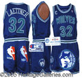Miscellaneous, CHRISTIAN LAETTNER GAME-WORN UNIFORM. Nice game-use on this att...