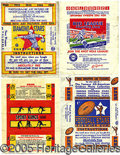 Miscellaneous, FOUR TOUGH WRAPPERS: GOUDEY, DIAMOND STARS, NATIONAL CHICLE, AND...