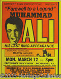 Miscellaneous, SIGNIFICANT SITE POSTER FOR ALI'S LAST RING APPEARANCE. Not exa...