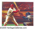 "Miscellaneous, 1976 STAN MUSIAL ""LIVING LEGENDS"" SIGNED LITHOGRAPH. The genius..."