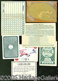 Miscellaneous, 1927 PSYCHIC BASEBALL GAME. Neat, colorful game with original bo...