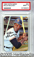 Miscellaneous, 1969 TOPPS SUPER MCCOVEY. Much as Stargell labored in the shado...