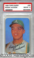 Miscellaneous, 1969 TOPPS SUPER REGGIE JACKSON. After a brief look-see in '67,...