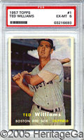 Miscellaneous, 1957 TOPPS TED WILLIAMS. In 1957, the vast majority of kids who...