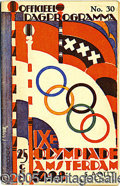 """Miscellaneous, 1928 OLYMPICS PROGRAM. """"We came here to win, and win decisively..."""