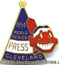 Miscellaneous, 1954 CLEVELAND WORLD SERIES PIN. The Indians of 1954 seemed inv...