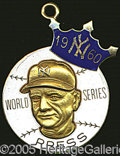 Miscellaneous, 1960 YANKEE 14K CHARM. As an institution popularized in the pos...