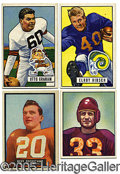 Miscellaneous, EARLY '50'S FOOTBALL CARD COLLECTION. This little bundle of nug...
