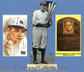"""Miscellaneous, BABE RUTH AUTOGRAPH DISPLAY. A cut signature (""""9"""") of Babe Ruth..."""