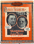 Miscellaneous, 4/18/23 - THE FIRST YANKEE STADIUM PROGRAM. The early Yankees w...