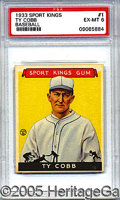 Miscellaneous, GOUDEY SPORT KINGS TY COBB. Traditionally card producers have a...