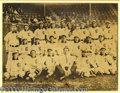 """Miscellaneous, 1907 CLEVELAND TEAM PHOTO WITH LAJOIE. Beautiful, large 8 x 10""""..."""