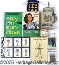 Miscellaneous, A DIVERSE GOLF COLLECTIBLES GROUPING. Consisting of: 1) A gorge...