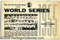 Miscellaneous, RARE UNOFFICIAL ADVERTISING SCOREBOOK FOR THE 1955 CHAMPIONSHIP ...