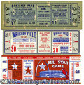 Miscellaneous, THREE RARE ALL-STAR GAME FULL TICKETS. These are not proof tick...
