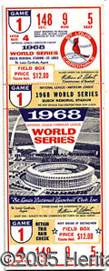 Miscellaneous, IMPORTANT FULL TICKET FROM BOB GIBSON'S DOMINATING WORLD SERIES ...