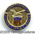 Miscellaneous, VERY TOUGH 1948 NFL CHAMPIONSHIP GAME OFFICIAL PRESS PIN. Far r...
