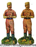 Miscellaneous, TWO 1880'S BROOKLYN BALLPLAYER DIE-CUTS. One EX-MT, but for sev...