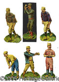 Miscellaneous, SIX DIFFERENT POPULAR 1880'S BALLPLAYER DIE-CUTS. Teams represe...
