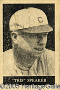 """Miscellaneous, RARE 1927 TRIS SPEAKER """"HONEY BOY"""" CARD BY PURITY ICE CREAM CO....."""