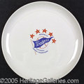 """Miscellaneous, TOUGH 1952 DODGERS CHINA DINNER PLATE. This teamissued """"appreci..."""