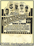 Miscellaneous, VERY UNUSUAL EARLY 1930'S BASEBALL DIE-CUT ADVERTISING PIECE. T...