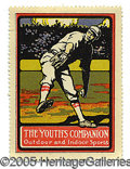 Miscellaneous, RARE LARGE PRE-1920 ADVERTISING STAMP WITH RUTH AS A PITCHER. T...