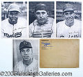 """Miscellaneous, 1947 DODGERS TEAMISSUED PHOTO PACK. Twenty-five NM+ 6 ½ x 9"""" pho..."""