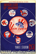 Miscellaneous, RARE VERY EARLY-1951 MANTLE #6 PROGRAM. Undated and partially sc...