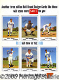 Miscellaneous, MOST UNUSUAL ADVERTISING SIGN WITH KOUFAX, SNIDER AND WILLS. Als...