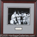 Miscellaneous, BEAUTIFULLY DISPLAYED JACKIE ROBINSON AUTOGRAPH. Nice, bold ball...