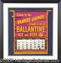 Miscellaneous, SCARCE 1955 YANKEES SCHEDULE/CALENDAR BANNER. Shows the month of...