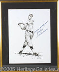 Miscellaneous, AWESOME SIGNED TED WILLIAMS DISPLAY PIECE. This is a large, sign...