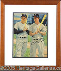 """Miscellaneous, COLORFUL MANTLE AND BILLY MARTIN SIGNED PHOTO. 8 x 10"""" magazine ..."""