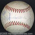 Miscellaneous, 1966 DODGERS TEAM SIGNED BALL. Twenty-five signatures on Giles O...