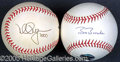 Miscellaneous, A PAIR OF MARK MCGWIRE AND BARRY BONDS SIGNED BALLS. For those ...