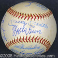 "Miscellaneous, PRISTINE ""OLD TIMERS"" SIGNED BALL. C. 1973, on a mint Feeney ON..."