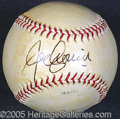 Miscellaneous, JOE CRONIN SINGLESIGNED BALL. Cronin earned his Hall of Fame ni...