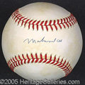 Miscellaneous, RARE MUHAMMED ALI SIGNED BASEBALL. Clean blue ink signature on ...