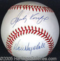 Miscellaneous, SANDY KOUFAX AND DON DRYSDALE TOGETHER ON ONE BALL. What a pair...