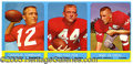 Miscellaneous, 1963 TOPPS FOOTBALL PROMOTIONAL PANEL. Through the years, confe...