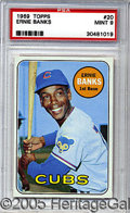 Miscellaneous, 1969 TOPPS ERNIE BANKS. He could have been enshrined for his en...
