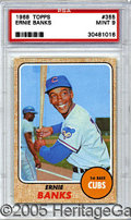 Miscellaneous, 1968 TOPPS ERNIE BANKS. Collectors who agonize over the abstrac...