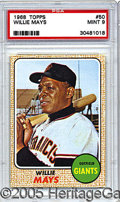 Miscellaneous, 1968 TOPPS WILLIE MAYS. In 1968, when this card was released, M...