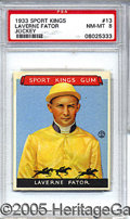 Miscellaneous, 1933 GOUDEY SPORT KINGS - LAVERNE FATOR. From the department we...