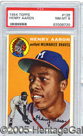 Miscellaneous, 1954 TOPPS HENRY AARON. From the issue that introduced us to th...