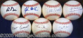 Miscellaneous, COLLECTION OF (7) BALLS SIGNED BY FORMER PRESIDENTIAL HOPEFULS A...