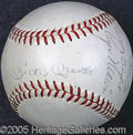 Miscellaneous, MANTLE AND MARIS SIGNED BALL. Strong black ballpoint signatures...