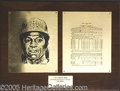 "Miscellaneous, IMPRESSIVE LOU BROCK PERSONAL AWARD PLAQUE. Large 20"" by 15"" br..."